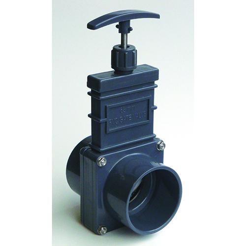 Válvula de Guillotina con Aleta de Plástico