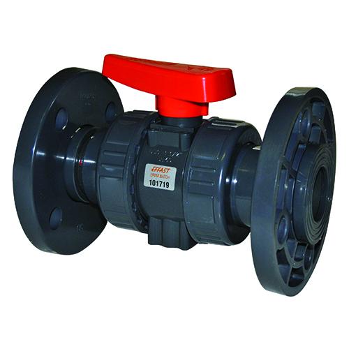 Válvula de Bola para Industria BK1 Doble Unión Embridada (Junta FKM)