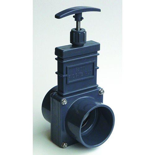 Válvula de Guillotina con Aleta de Plástico 160