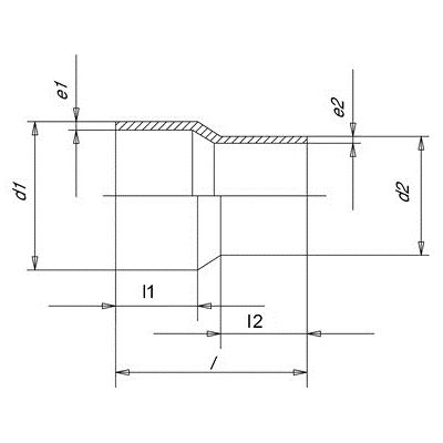 Reducción Concentrica SDR 11 - 225-200
