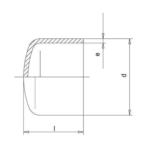 Tapón Corto SDR17 - 250
