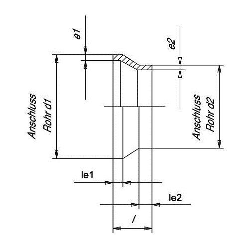 Reducción Concéntrica SDR17 - 125-75