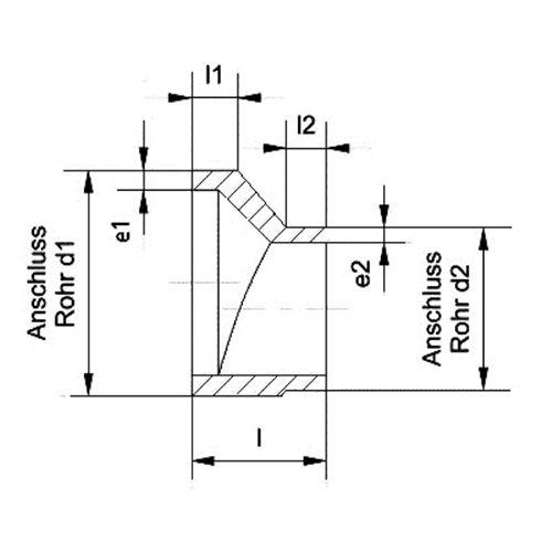 Reducción Excéntrica SDR11 - 200-160
