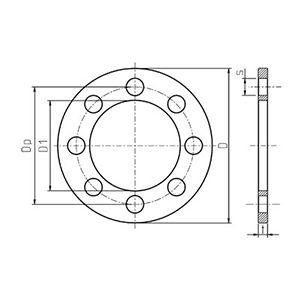 Brida de Metal 50 x 50 (2'')