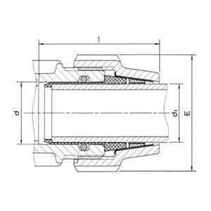 Juego Adaptador para Tubos de Acero Galvanizado 63 x 2''