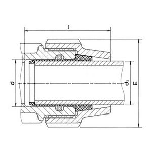 Adaptador de Goma para Tubos de Acero Galvanizado 50 x 1 1/2''