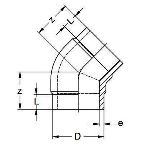 Codo Corto 45º SDR11 - 25