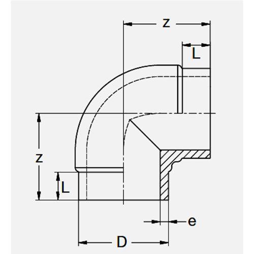 Codo Corto 90º SDR11 - 110