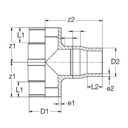 Te Reducida Manufacturada SDR11 - 355x280