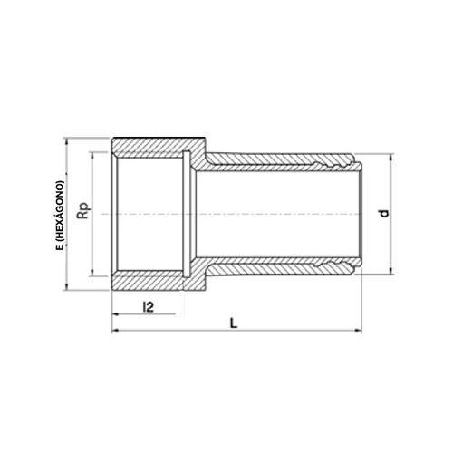 Racord Transición PE Rosca Hembra Latón 40 x 1''