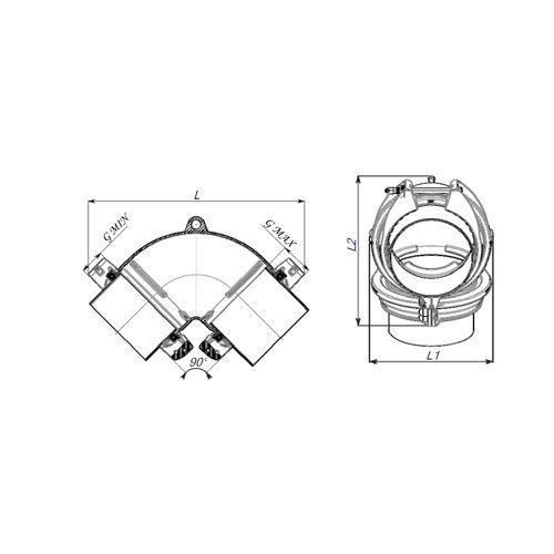HYMAX GRIP Codo 90º  322-340