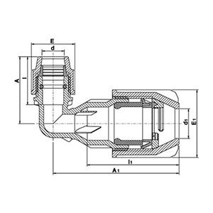Plass 4 - Codo 90º PE - Universal