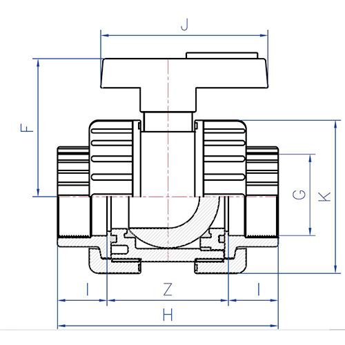 Válvula Esfera Desmontable Bidireccional Standard Roscar