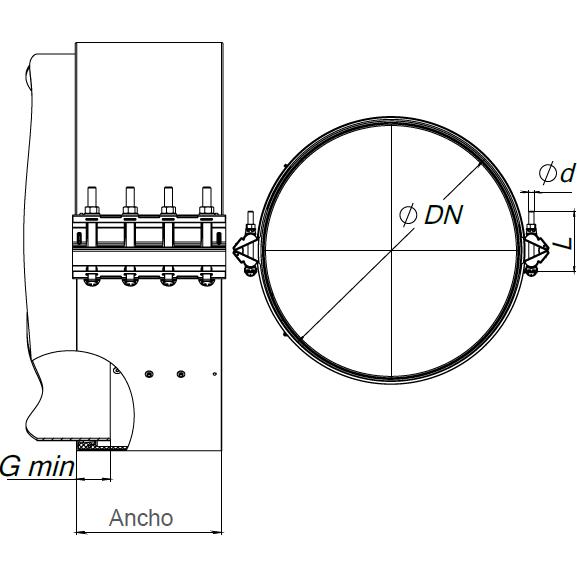 REPAMAX XL Alta Presión Ancho 280 mm Tolerancia 10 mm