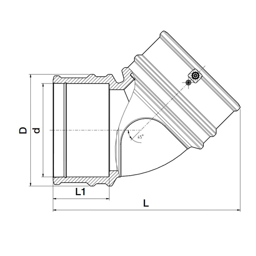 Codo 45º Electrosoldable Lightfit