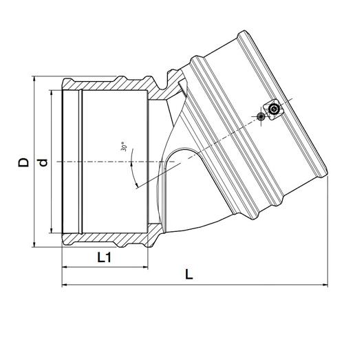 Codo 30º Electrosoldable Lightfit