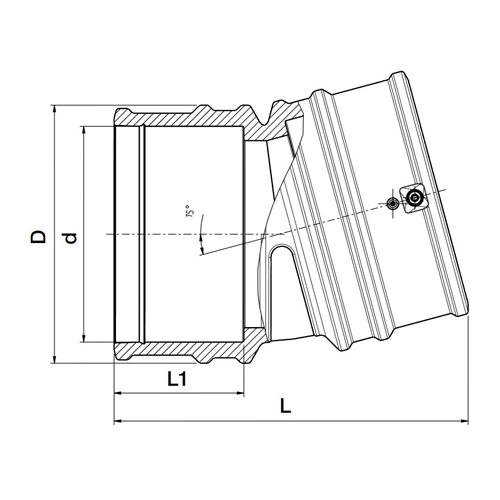 Codo 15º Electrosoldable Lightfit