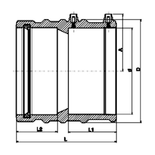 Manguito Adaptador PE - PVC