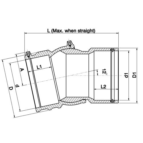 Codo Ajustable Electro - Adaptador PE - PVC