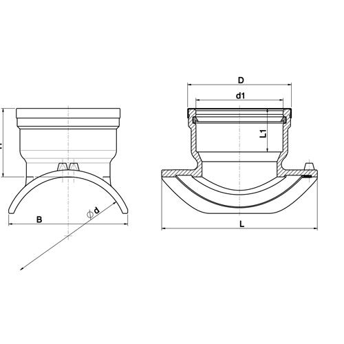 Toma Simple Lighfit de Transición PE a PP - PVC