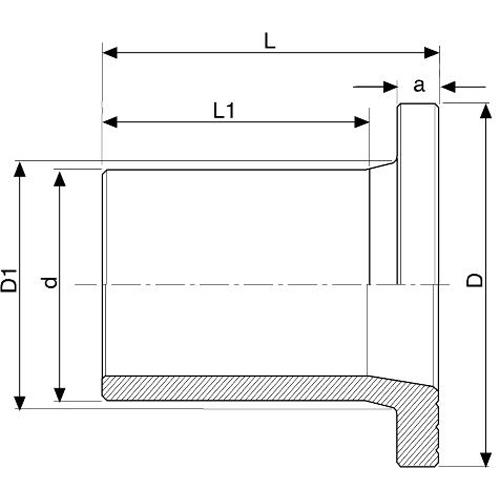 Adaptador a Brida Electrosoldable