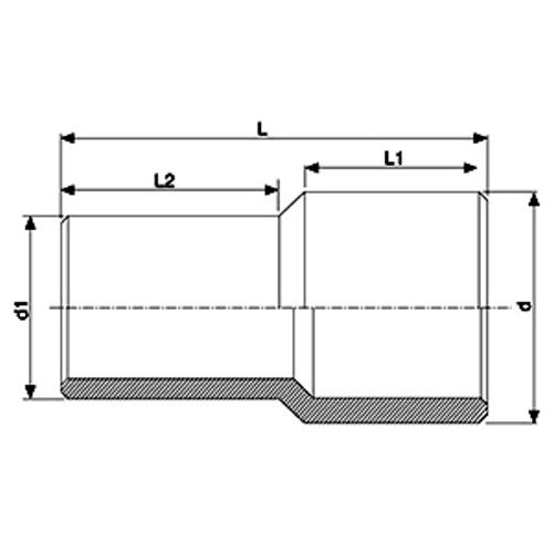 Reductor Spigot Electrosoldable