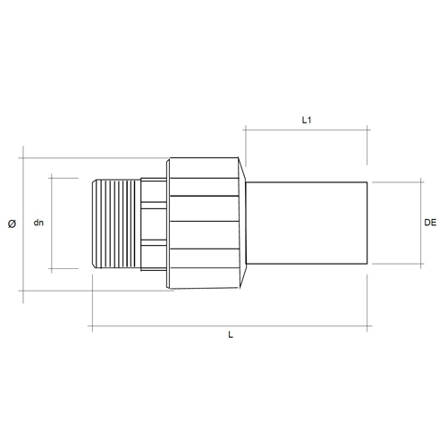Racord de Transición PE - Rosca Macho de Latón