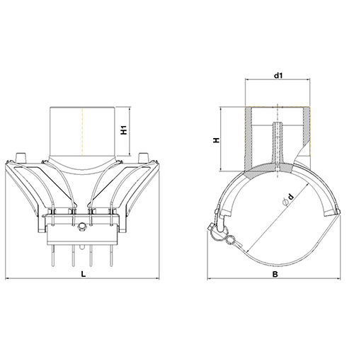 Toma Simple Electrosoldable Salida 110mm