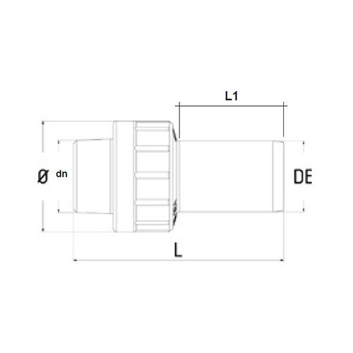 Racord de Transición PE - Rosca Hembra de PE