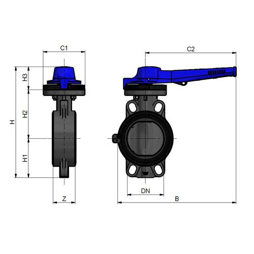 Válvula de Mariposa PROFLOW Serie H (EPDM)